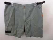 mens dull green JEEP shorts sz 36 board surf hike trek climb belted cargo CLEAN