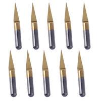 10X Gravierstichel 15° 0.1mm Titan Beschichtet Gravurstichel 3.175mm für CNC PCB
