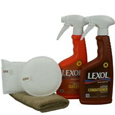Lexol Kit de cuidado de Piel Limpieza De Cuero & Cuidado de piel 2x 500 ml