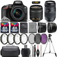 Nikon D3500 DSLR Camera with 18-55mm VR Lens + 70-300 Lens + 64GB Bundle Kit