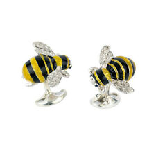 Deakin y Francis De Plata Y Esmalte Bumble Bee GEMELOS ZAFIRO ojos Bumblebee