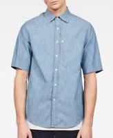 Gstar Bristum Ref Straight Shirt Mens Med Denim Button Up Short Sleeve UK Size S