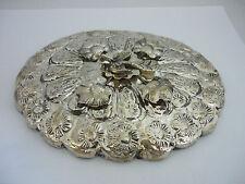 Impresionante cosecha egipcio caracteriza Sólido Plata Espejo de mano con forma ovalada