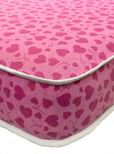LUXURY BUDGET PINK HEART MATTRESS. 3FT. SINGLE . 2ft6. shorty. MULTIPLE SIZES!!!