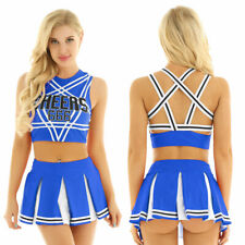 Sexy Women M School Girl Musical Uniform Fancy Dress Costume Cheer leader Outfit