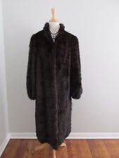 Full Length Womens Size L Genuine Brown Fur Coat