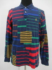 P8439 VTG Polo Ralph Lauren Men's Long Sleeve Polo Shirt Size XL