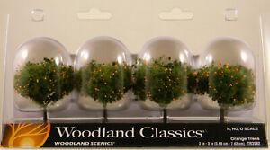 "NEW Woodland Scenics Woodland Classics TR3592 2 - 3"" Orange Trees 4 Pk"