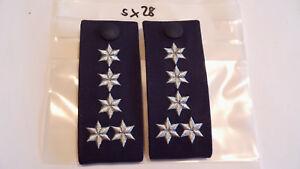 Polizei Schulterstücke Baden Württemberg 5 Sterne silbern 1 Paar (sx28)
