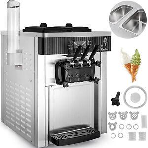 Kommerzielle Softeismaschine Speiseeismaschine 3 Geschmack Externer Kegelhalter