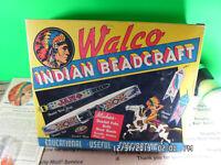 Vintage Walco Indian Beadcraft Kit Loom Extra Beads & Acc's Original Box