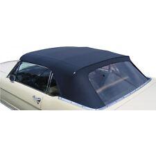 Mustang Convertible Top w/o Curtain Pinpoint Vinyl 1964 1965 1966 Black - TMI