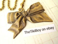 Tied Bow Ceiling Fan Pull Chain Antiqued Brass Ball Chain Victorian Country New