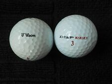 "20  WILSON ""DEEP RED""  Golf Balls - ""PEARL/A"" Grades - ""SPECIAL OFFER"""