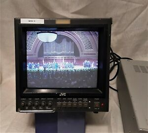 JVC 1985 TM R9U Analog Video 9 inch Monitor Color CRT Portable Game TV AC DC BNC