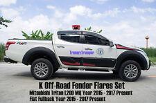 K OFF-ROAD MITSUBISHI L200 MQ GLS GLX TRITON 2015 2016 FENDER FLARES WHEEL ARCH