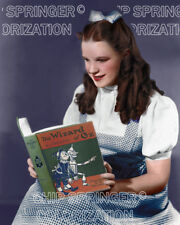 JUDY GARLAND as DOROTHY Reading OZ   Stunning 8x10 COLOR Photo by CHIP SPRINGER