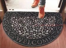 pebble/cobblestone floor/door mat, 3D design, premium quality, outdoor/indoor