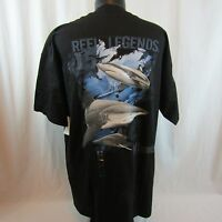 Reel Legends Sharks Men's Black T-Shirt X-Large XL New