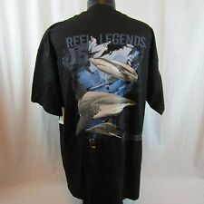 Reel Legends Sharks Men's XL Black T-Shirt NWT $20.00