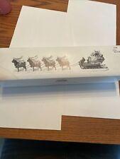 "Department 56 Snow Village Sleigh & 8 Tiny Reindeers"" # 5611-1 Mint *see Descrip"