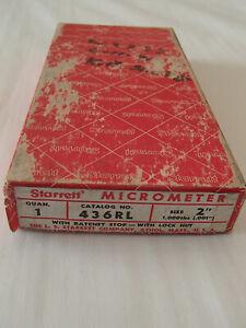 """Starrett Model 436RL-2 Outside Micrometer 1-2"""" Range"""