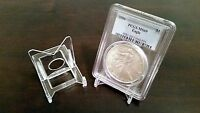 """*100 Adjustable 2"""" Display Stand Easel Coin PCGS NGC Air-Tite Capsule"""