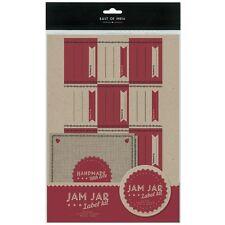 Ost-Indien Marmeladenglas Etikett Set Topf Deckel Deckt Band Vintage Handgemacht