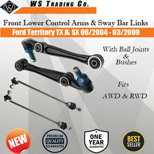 A Set Front Lower Control Arms & Sway Bar Link For Ford Territory TX SX SY 04-09