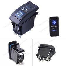 5-Pin Driving Lights  SPST ON/OFF Blue LED Indicator Rocker Switch For Fog light