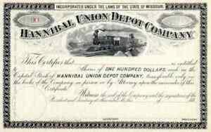188_ Hannibal Union Depot Co Stock Certificate
