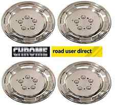 Set Of 4 Chrome Deep Dish Wheel Cover / Trims -  INC TRACKED COURIER