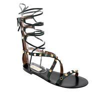 $1495 Valentino Garavani Rockstud Sandals Rolling Gladiator Size 6 New