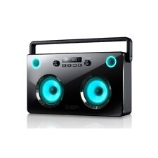 Ion Spectraboom 60W Stereo Wireless Bluetooth Boombox with LED Lighted Speakers