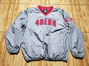 Vintage San Francisco 49ers Pullover Football Sweater Adult Large Gray Mens