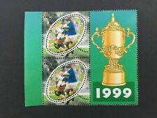 Paire Timbres France 1999 YT 3280a (ITV) + 3280 . Rugby. + vignette centrale