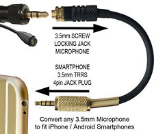 Sennheiser 3.5mm Microphone To TRRS 4P 3.5mm Jack Plug Adapter For Smartphones