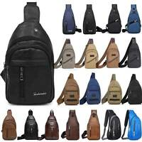 Men Sling Bag Chest Pack Travel Backpack Messenger Shoulder Cross Body Hiking US