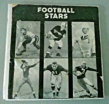 VTG Football exhibit cards Display Piece UNIQUE 1948-1952 featuring 6 PRO Stars