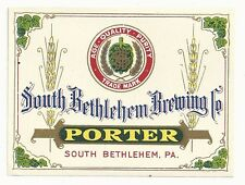 Pre-pro Porter Label - South Bethlehem, PA - South Bethlehem Brewing Co.