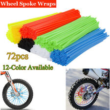 72X Universal Motorcycle Wheel Spoke Wraps Skins Coat Trim Cover Pipe Dirt Bike