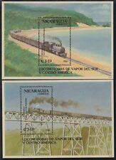 Nicaragua HB 202/03 1991 tren train  Locomotoras de vapor del Sur y Centro Améri