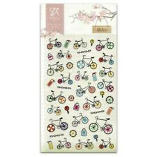 CUTE BIKE STICKERS Sheet Bicycle Bike Tires Chain PVC Craft Scrapbook Sticker