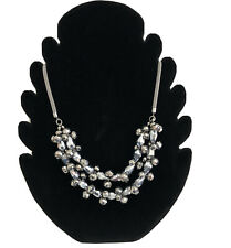"""New Principles Beaded Necklace Flower Beads Blue Black 30/"""" Fixed Length RRP £15"""