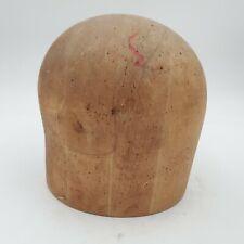 Antique Midwest HB & D Co Wooden Hat Mold Block Form Size 22 #796 Industrial Vtg