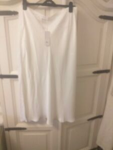 White company Ivory Bias Cut Skirt. Size 16. Bnwt