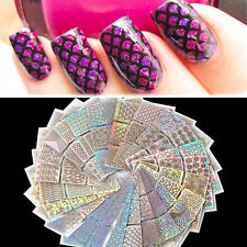 24pcs/set Nail Art Hollow Stencil Template Stamp Stickers Deco DIY Manicure Tool