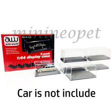 AUTOWORLD AWDC008 6 DISPLAY CASES FOR 1/64 DIECAST MODEL CAR