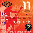 ROTOSOUND R11-7 REDS MEDIUM 7 STRING ELECTRIC GUITAR STRINGS 11-58  for sale