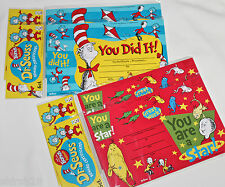 Dr Seuss Cat In The Hat Reward Award Certificates - 24 Count Bookmark Teacher